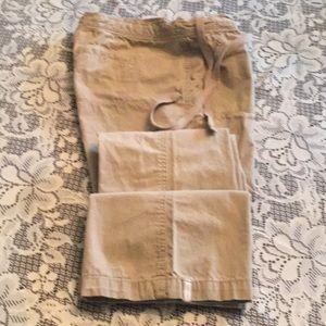 A&F XS Tie Waist Khaki Pants